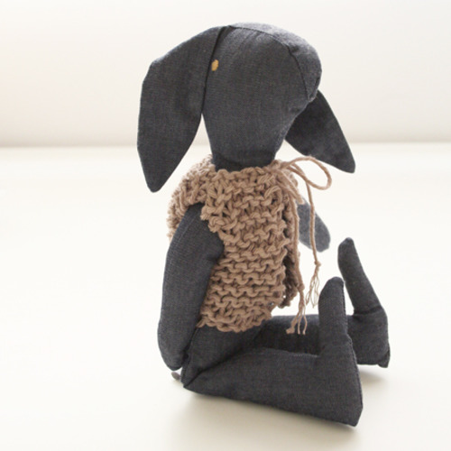 Bunny with Knitted Vest
