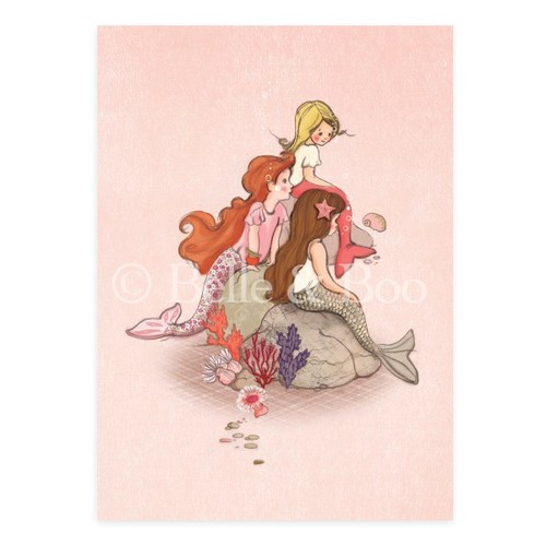[Belle and Boo] [벨앤부 엽서] Mermaid Rock