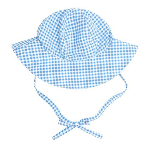 blue gingham sun hat