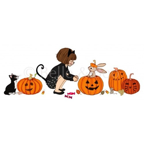 [벨앤부] 할로윈 벽스티커 Belle & Boo's Halloween Pumpkins wall sticker