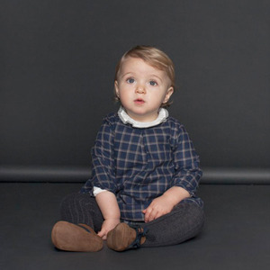 BLUE CHECKS BABY DRESS