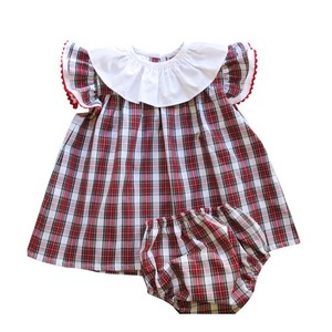 Tartan tunic with matching bloomers